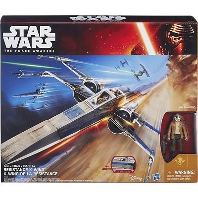 THE FORCE AWAKENS BLUE COMMANDER & X-WING STAR FIGHTER